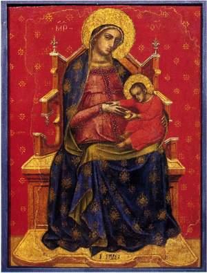 Catarino Veneziano, Madonna col Bambino. Tempera su tavola